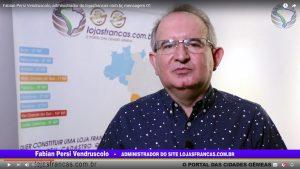 Fabian Persi Vendruscolo, administrador do lojasfrancas.com.br, mensagem 01