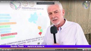 Prefeito de Guaíra/ PR Heraldo Trento, convocará reunião do Grupo Técnico Municipal