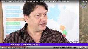 Júllio Lucca Presidente da ACIMN, é o parceiro do lojasfrancas.com.br em Mundo Novo/MS