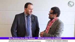 Entrevista com Alex Mendonça Alves (Alex Redano) – Deputado Estadual de Rondônia