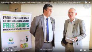 Entrevista com o Prefeito Municipal Joner Chagas de Bonfim/RR, em 07/12/2018 – Porto Alegre/RS