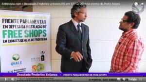 Entrevista com o Deputado Frederico Antunes/RS em 07/12/2018 no evento de Porto Alegre